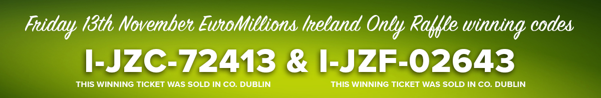 Three Dublin players scoop more than EUR2.5 million in EuroMillions prizes