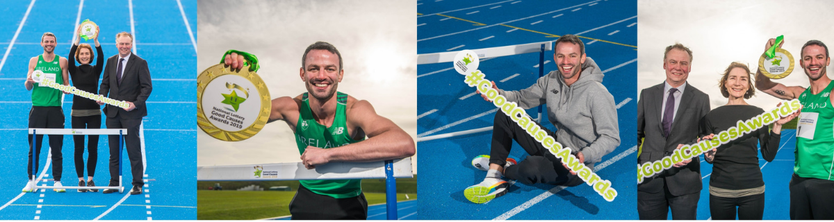 Irish Olympian hurdler Thomas Barr
