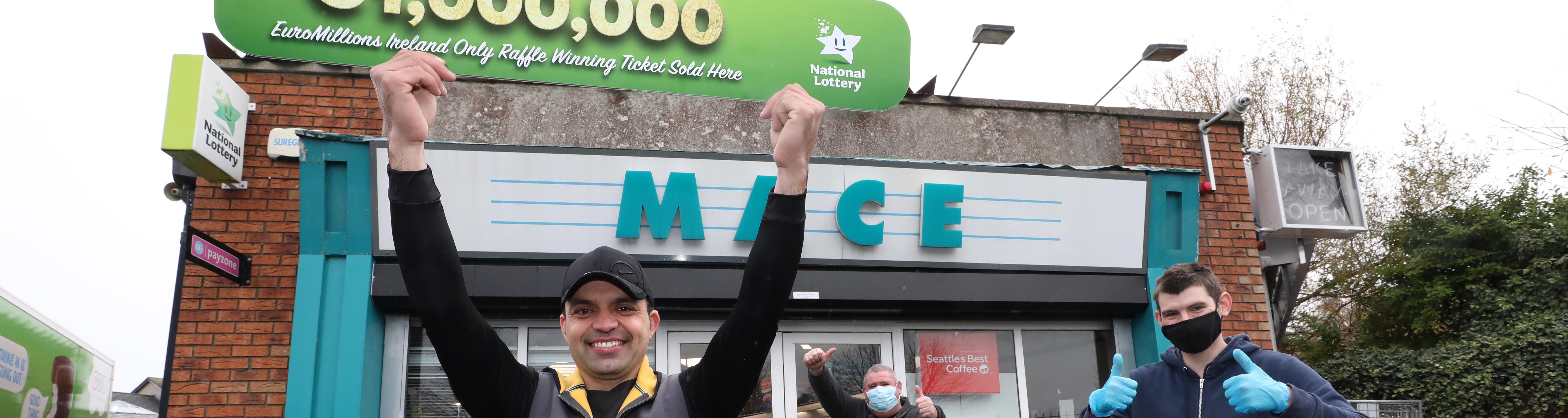 Mace Clondalkin Sold the 1st Fortnight of Fortunes EuroMillions Winning Ticket