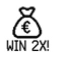 Scratch Card Win 2X Symbol