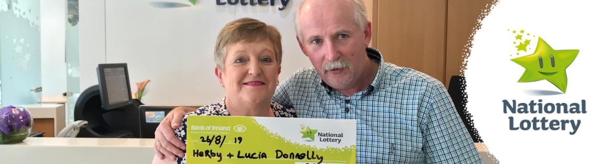 Lucia and Herby Donnelly Lotto Win