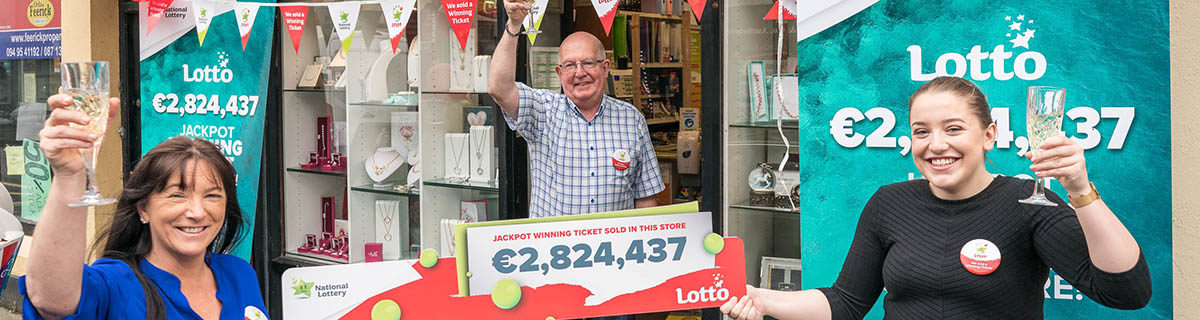Murphy's Newsagents, Ballinrobe, Co. Mayo Sold Third Lotto Jackpot Winning Ticket