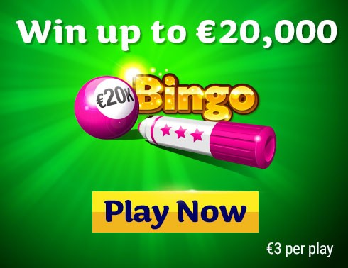 20K Bingo Instant Win Game Homepage Banner