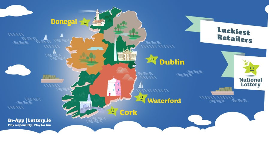 Luckiest Retailers Ireland Map