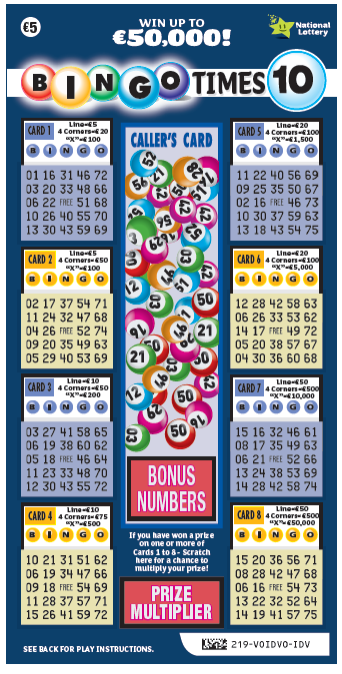 Bingo Times 10 Scratch Card