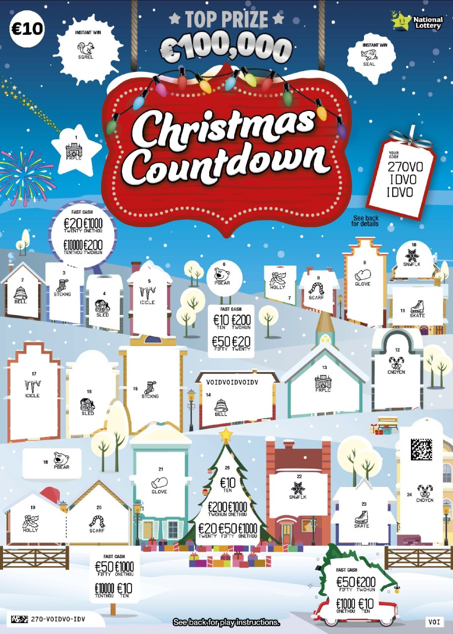 Christmas Countdown Scratch Card Revealed Sample