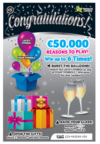 Congratulations Scratch Card