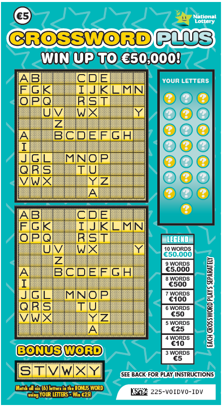 Crossword Plus Scratch Card