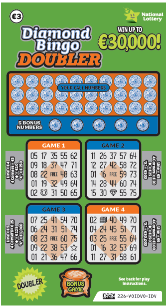 Diamond Bingo Doubler Scratch Card