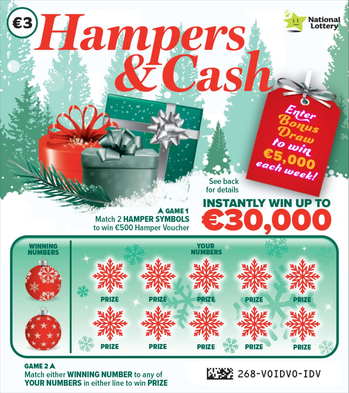 Hampers & Cash Scratch Card Sample