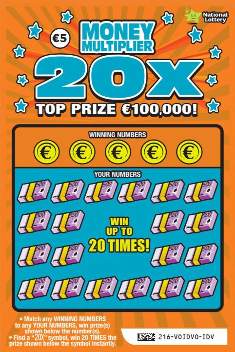 Money Multiplier 20X Scratch Card