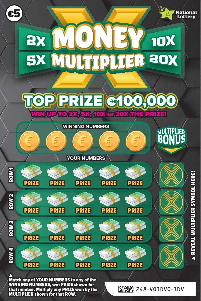 248 Money Multiplier Scratch Card Front